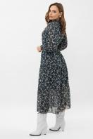 . Платье Мариэтта д/р. Цвет: синий-белый м.цветы