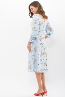 . Платье Пала д/р. Цвет: голубой-цветы-ягоды
