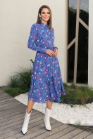 . Платье Изольда-1 д/р. Цвет: джинс-цветочки