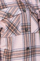 . Рубашка Роуз д/р. Цвет: клетка м.розовая