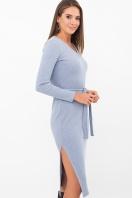 . Платье Пина д/р. Цвет: голубой