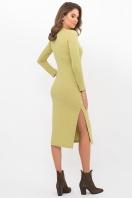 . Платье Пина д/р. Цвет: оливковый