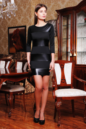 платье Полли д/р. Цвет: черный