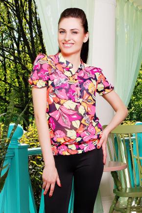 блуза Весна к/р. Цвет: ультра цветы