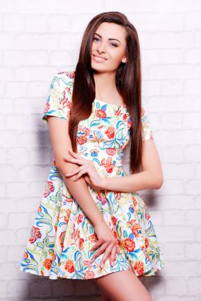 платье Милава2 к/р. Цвет: молоко-цветы
