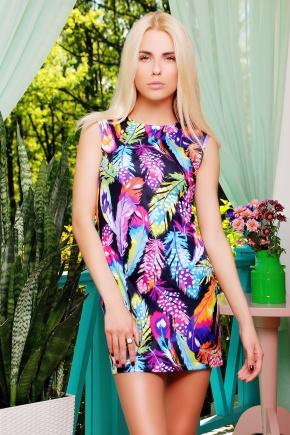 Перья платье Лея-1 б/р. Цвет: принт
