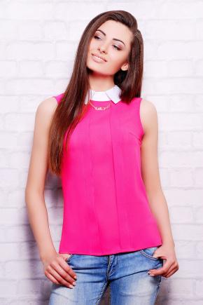 блуза Келли б/р. Цвет: малина-белая отделка