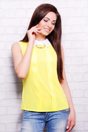 блуза Келли б/р. Цвет: лимонный-белая отделка