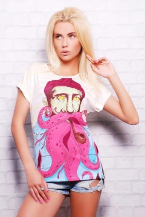 Моряк футболка Кимоно. Цвет: принт
