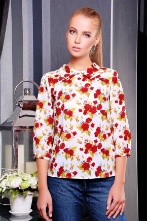 Роза красная блуза Тамила1 д/р. Цвет: белый