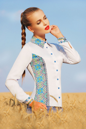 Узор С2 блуза Марта 2Н д/р. Цвет: принт