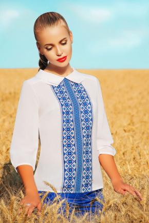 Вышиванка блуза Тамила2 д/р. Цвет: синий