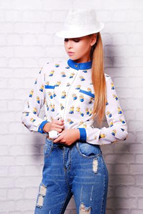 Миньон блуза Лекса 1К д/р. Цвет: принт