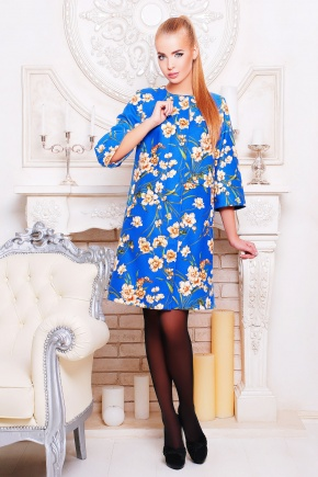 Нарцисс пальто Таира. Цвет: электрик