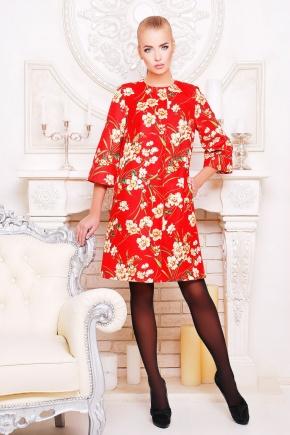 Нарцисс пальто Таира. Цвет: красный