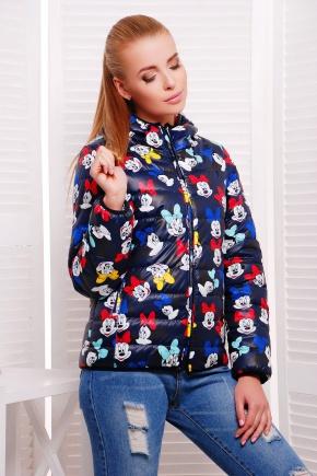 Mickey куртка Смарт. Цвет: темно синий