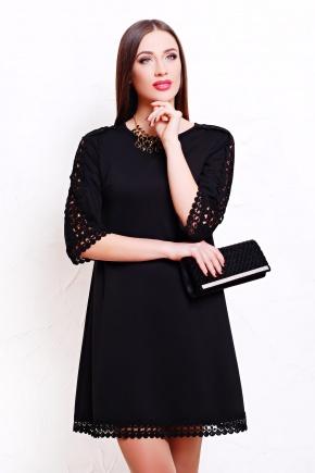 платье Нюша д/р. Цвет: черный-черное кружево