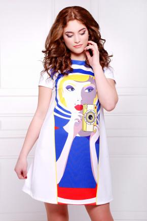 Сэлфи 1 платье Тая-2 к/р. Цвет: принт