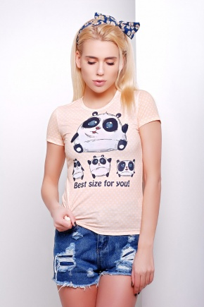 Size panda Футболка-1В. Цвет: принт