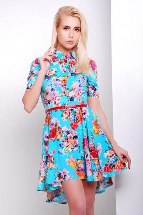 платье Розмари к/р. Цвет: голубой-букет
