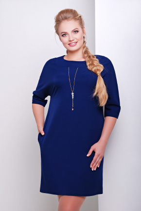 платье Элика-Б д/р. Цвет: темно синий