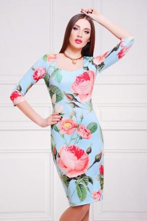 Роза платье Вики-Д д/р. Цвет: принт