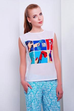 Телефон футболка Киви б/р. Цвет: принт