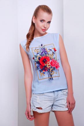 Flowers футболка Киви б/р. Цвет: принт