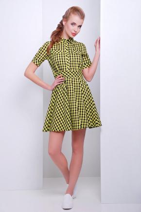 платье Джеки к/р. Цвет: желтый-черная клетка