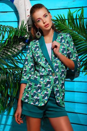 Листья пиджак Фора-Д д/р. Цвет: принт-зеленая отделка
