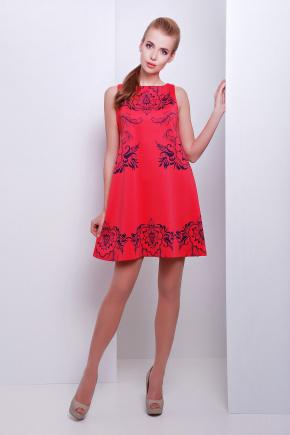 Узор синий платье Лада б/р
