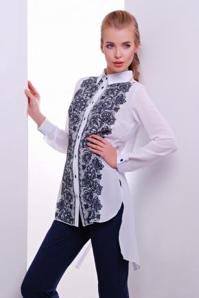 Узор черный блуза Джована д/р. Цвет: принт