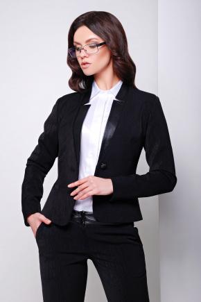 пиджак Ренди д/р. Цвет: черный-черная отделка