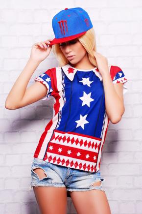 Америка футболка Кимоно-Б. Цвет: принт