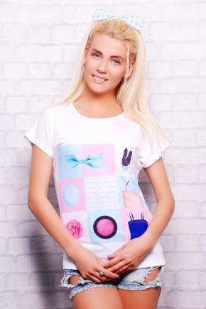 Леди футболка Кимоно-Б. Цвет: принт
