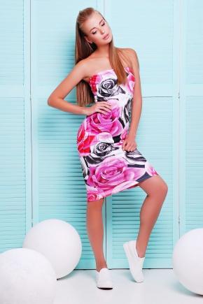 Розы сарафан Ная-1. Цвет: принт