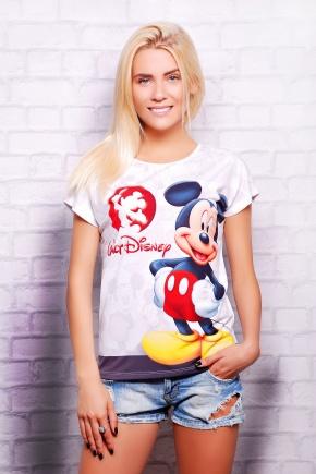 Mickey футболка Кимоно-Б. Цвет: принт