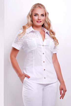 блуза Фауста-Б к/р. Цвет: белый