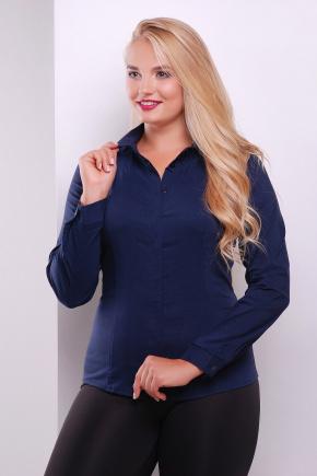 блуза Норма-Б д/р. Цвет: темно синий