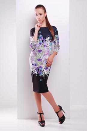 Лаванда платье Лоя-1Ф д/р. Цвет: принт