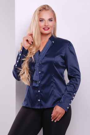 блуза Лакки-Б д/р. Цвет: темно синий