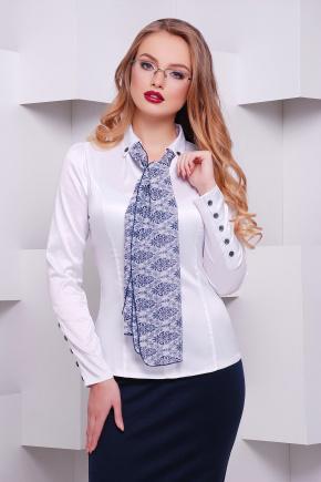 блуза Лакки-Б д/р. Цвет: белый