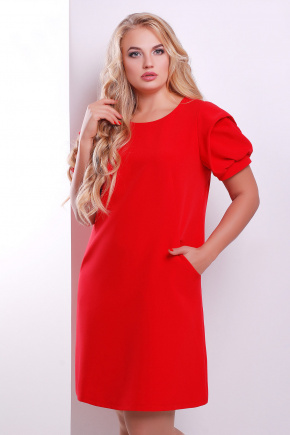платье Бриджит-Б к/р. Цвет: красный