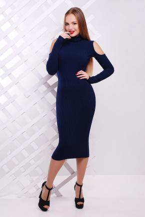 платье Резинка д/р. Цвет: темно синий