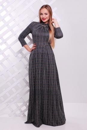 платье Шарлота д/р. Цвет: серый-черная клетка
