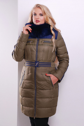 Куртка 13-205. Цвет: хаки-т.синяя отделка