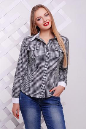 блуза Техас д/р. Цвет: черный-м.клетка