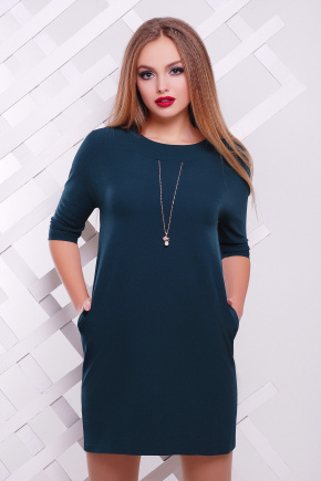 платье Элика д/р. Цвет: изумрудный