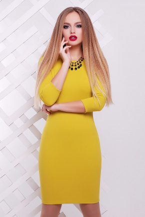 платье Модеста д/р. Цвет: горчичный