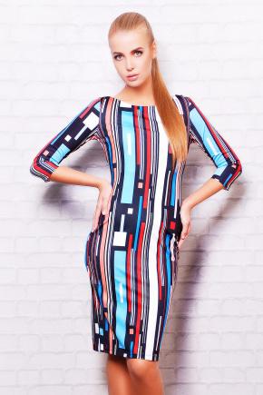 Полоски платье Лоя-1Ф д/р. Цвет: принт